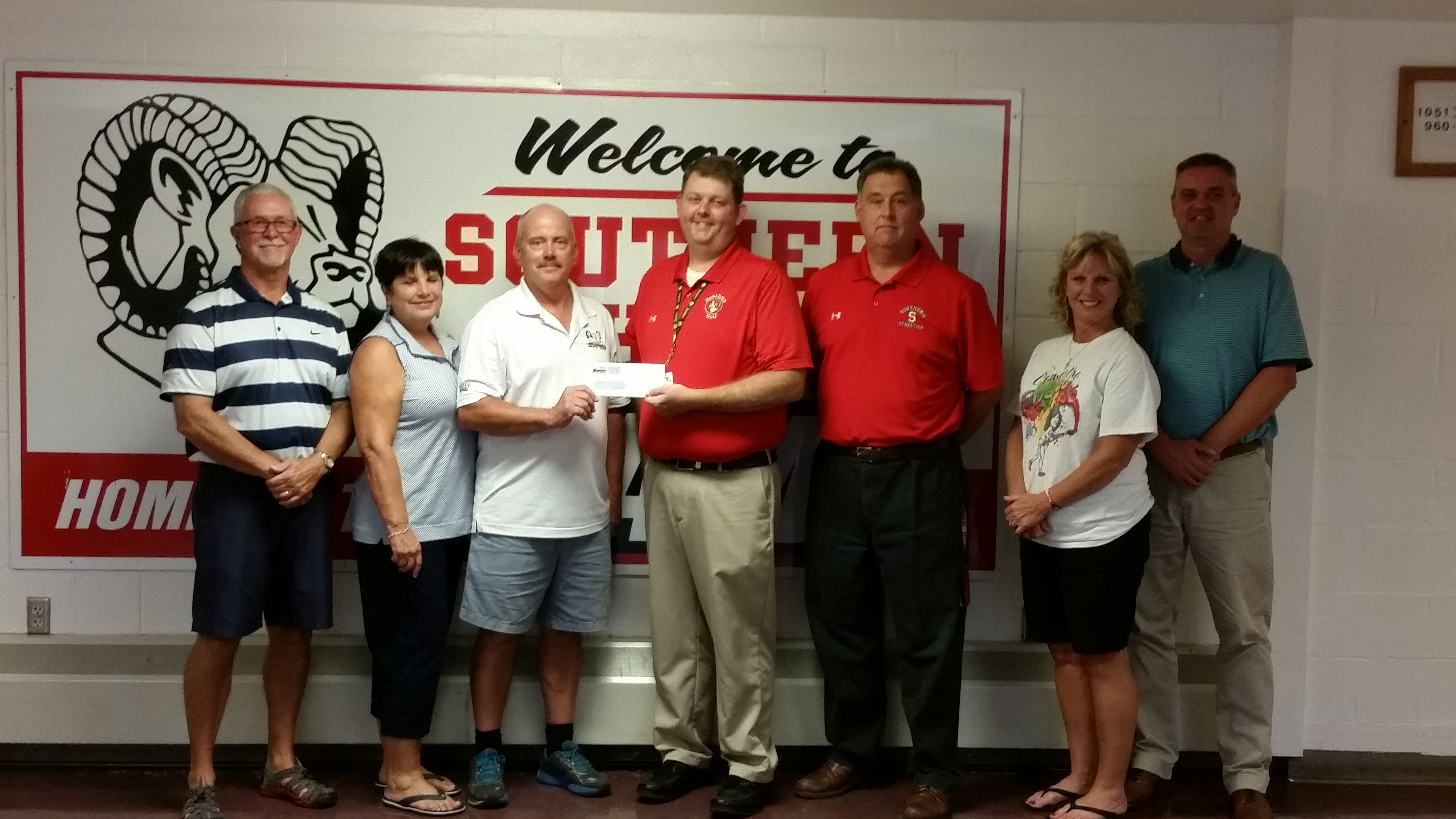 SGHS Golf Donation – 2016