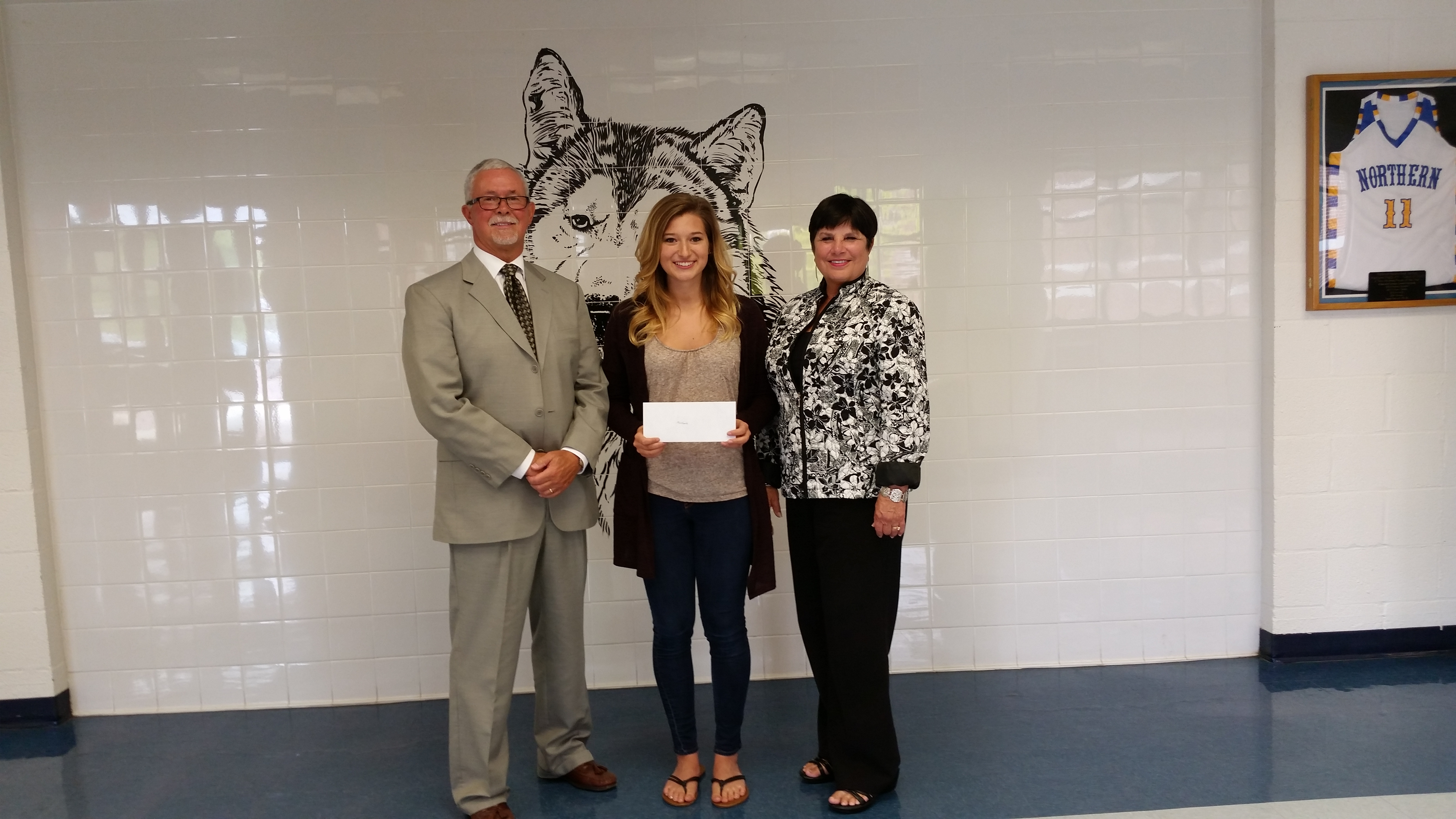 Andrew S. Woods Scholarship Donation to Senior Student at Northern High School