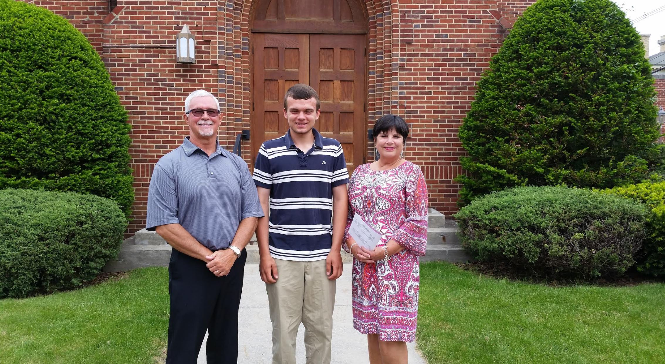 Joshua Brenneman – Andrew S. Woods Memorial Scholarship Foundation presented a check for his mission trip to Guatemala with the Cherry Glade Mennonite Church