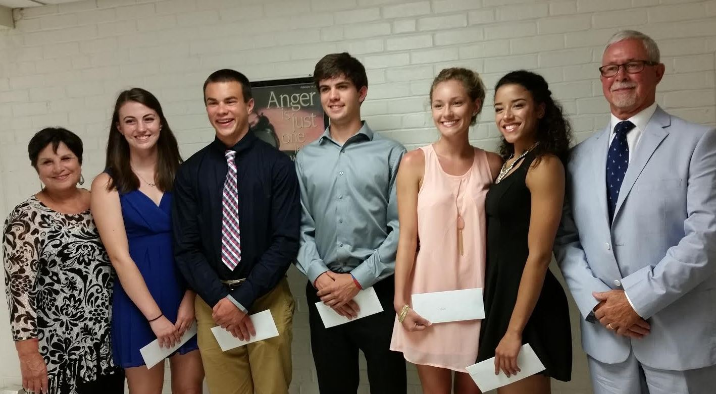 SGHS students receiving $2,500 each from the Andrew S. Woods Memorial Scholarships